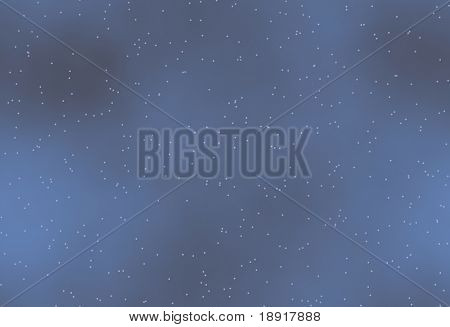 blue night sky with fog, mist and stars that tiles seamless in all directions