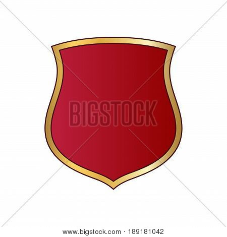 Shield Gold Red Icon Shape Emblem