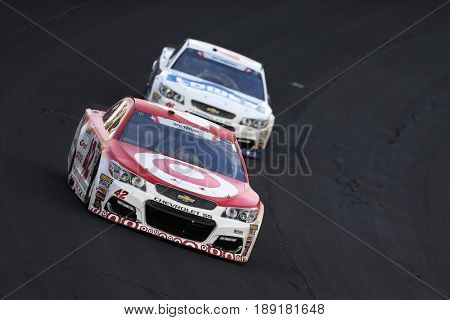 May 28, 2017 - Concord, NC, USA: Kyle Larson (42) brings his car through the turns during the Coca Cola 600 at Charlotte Motor Speedway in Concord, NC.
