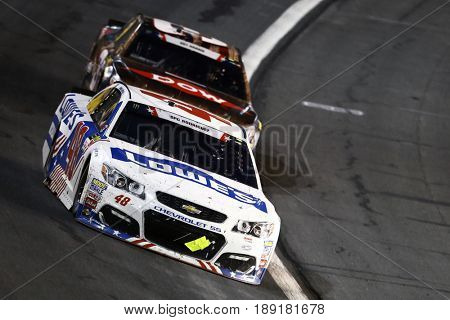 May 28, 2017 - Concord, NC, USA: Jimmie Johnson (48) brings his car through the turns during the Coca Cola 600 at Charlotte Motor Speedway in Concord, NC.