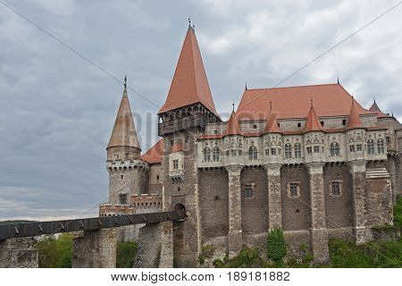 Castel of Corvinilor hunedoara Transylvania in  Romania