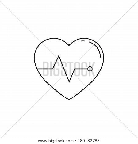 Heartbeat line icon, cardio, vector graphics, a linear pattern on a white background, eps 10.
