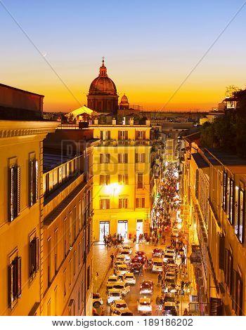 Rome At Twilight. Italy