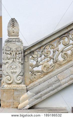 Detail of the Greek Orthodox religious complex of Sambata de Sus monastery in Transylvania Romania