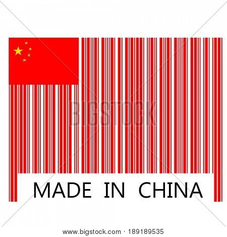 Made in China in bar code