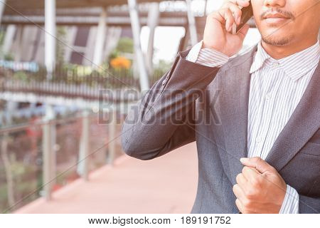 business man working in his company, happy day