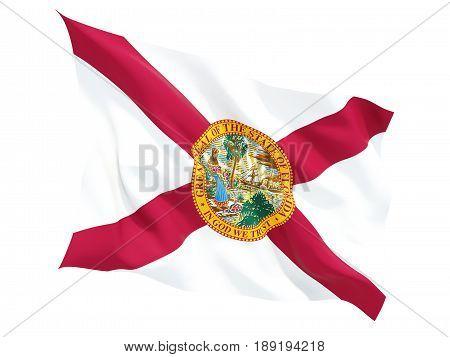 Flag Of Florida, Us State Fluttering Flag