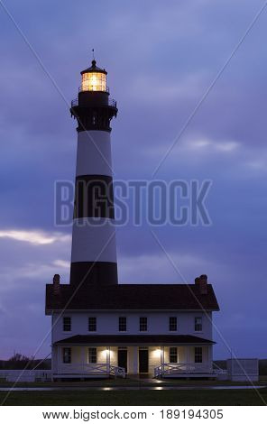 Bodie Island Lighthouse Before Sunrise - Outer Banks North Carolina