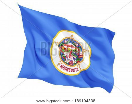 Flag Of Minnesota, Us State Fluttering Flag