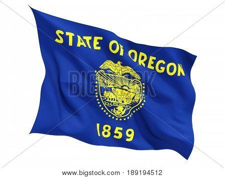 Flag Of Oregon, Us State Fluttering Flag