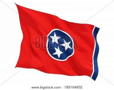 Flag Of Tennessee, Us State Fluttering Flag