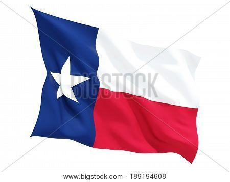 Flag Of Texas, Us State Fluttering Flag