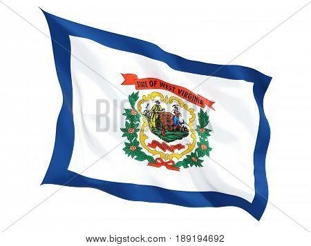Flag Of West Virginia, Us State Fluttering Flag