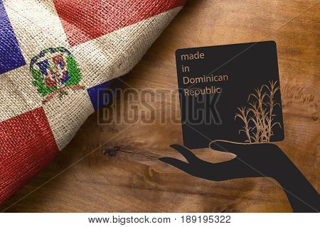 Symbol of agriculture of the Dominican Republic - Sugarcane poster made in the Dominican Republic.
