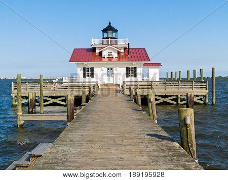 Roanoake Marshes Lighthouse - Manteo Harbor, Northcarolina