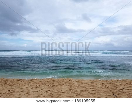 Camp Harold Erdman Beach is located on the north shore at the far west end of O'ahu. This is the stretch of sandy beach that starts from the west where the Farrington Highway ends and runs east to the YMCA Camp Erdman.