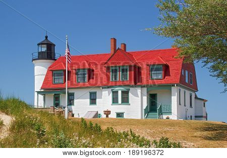Michigan's Point Betsie Lighthouse overlooks Lake Michigan and marks the southern end of the Manitou Passage.