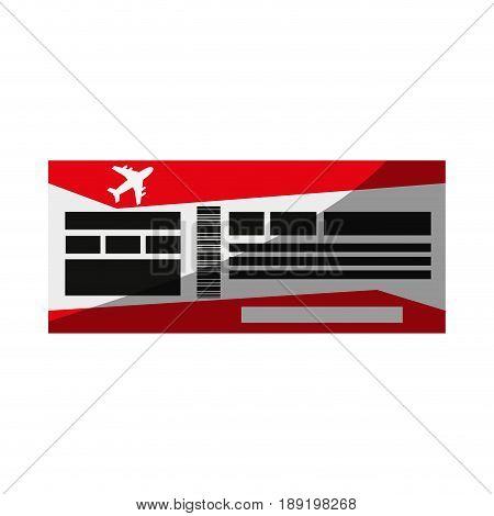 flight boarding pass icon image vector illustration design