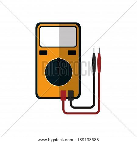 Electrical Test Meter icon over white background. vector illustration