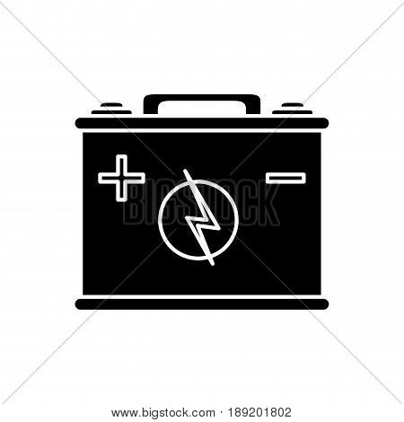 car battery icon over white background. vector illustration