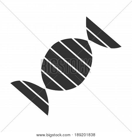 DNA molecule icon. Silhouette symbol. Negative space. Vector isolated illustration