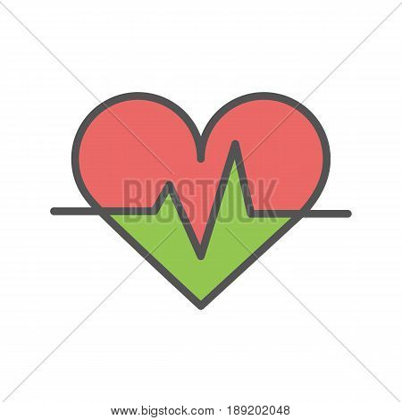 Palpitation color icon. Isolated vector illustration on white background