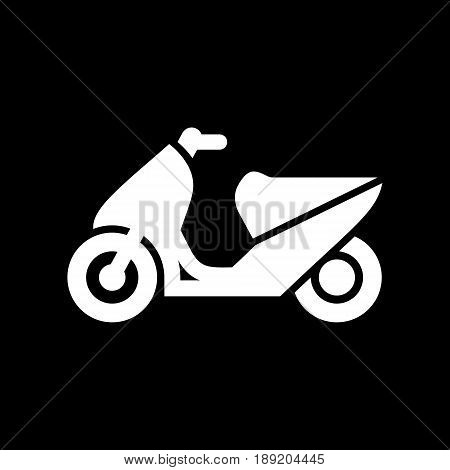 Motorcycle, Motorbike, Scooter Icon Simple Flat Vector Illustration