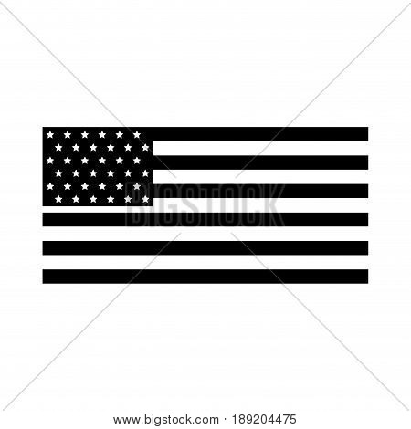 black icon american flag icon cartoon vector graphic design