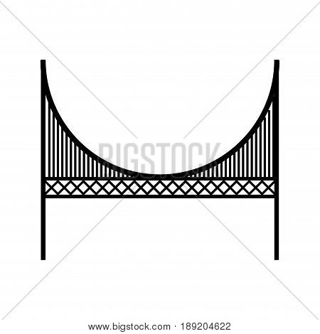 black icon golden gate bridge cartoon vector graphi design