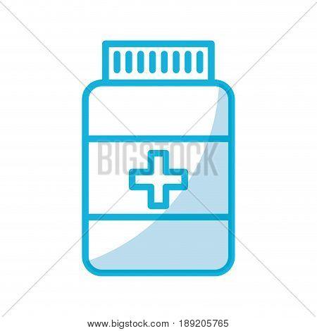 shadow blue pill bottle cartoon vector grpahic design