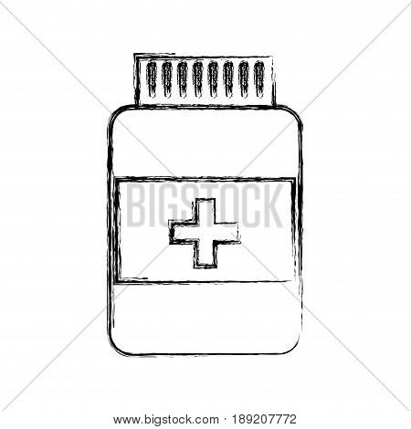 sketch draw pill bottle cartoon vector grpahic design