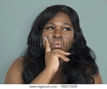 African Woman Curious Thinking Portrait