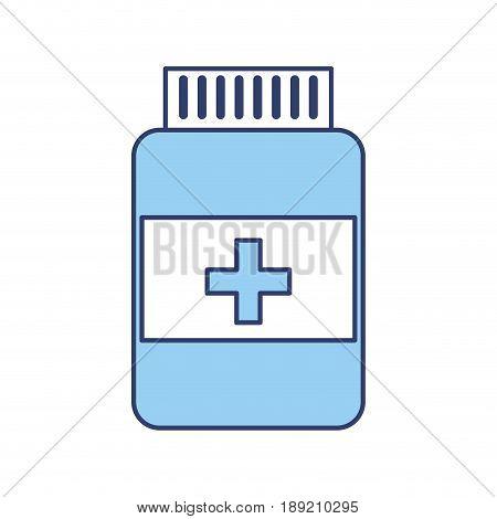 blue pill bottle cartoon vector grpahic design