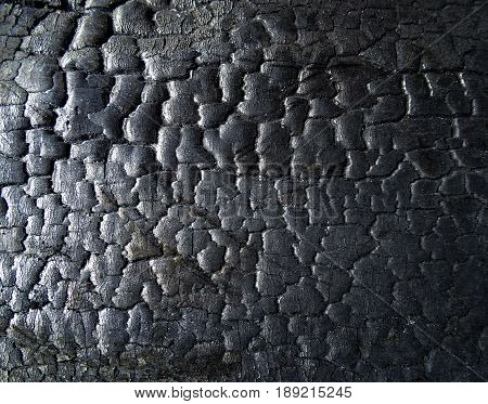 The surface of the black coal. Dark coal texture