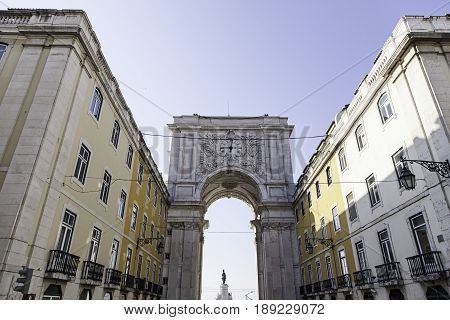 Detail Of Arch In Plaza Do Comercio