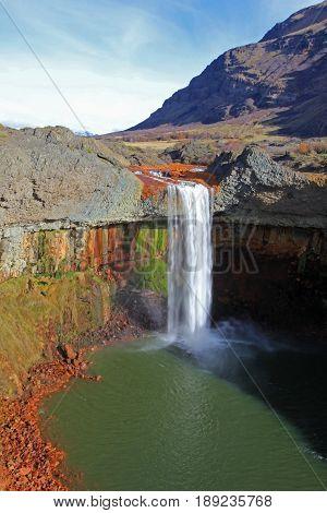 Waterfall Salto Del Agrio, Caviahue, Patagonia Argentina