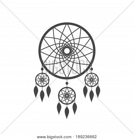 Dreamcatcher icon isolated on white background. Native american indian dream catcher icon. Vector illustration