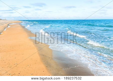 Long Tropical Sandy Beach