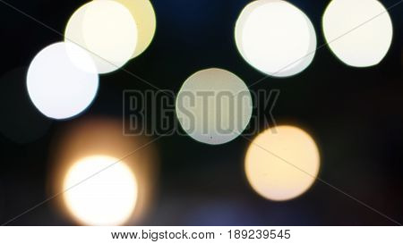 The bokeh. Out of focus lighting, blur and abstract background