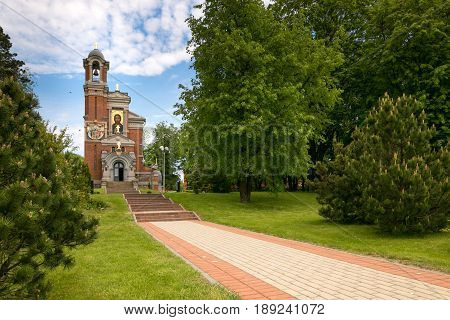 Mir, Belarus - May 20, 2017: Mir Castle In Minsk Region. Chapel-burial Vault Of Svyatopolk-mirsky. D