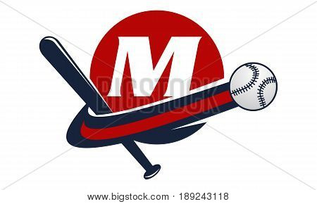 This image describe about Base Ball Letter M