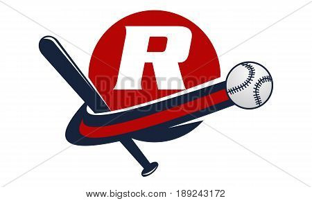 This image describe about Base Ball Letter R