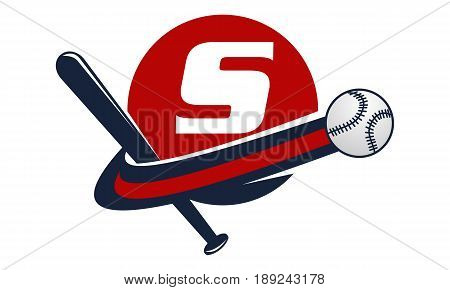 This image describe about Base Ball Letter S