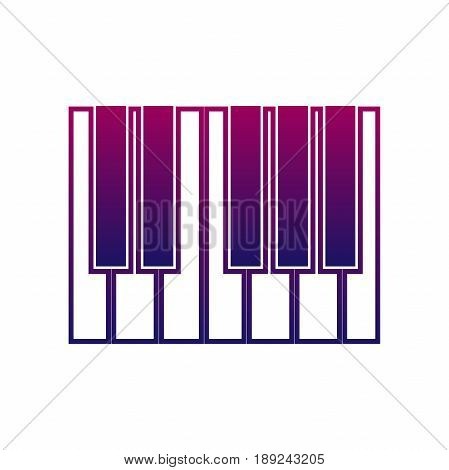 Piano or synthesizer icon. music sign. musical instrument symbol