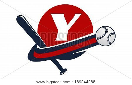 This image describe about Base Ball Letter Y