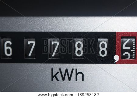 An Image of a electricity Counter - electric