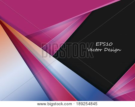 vector card template. Colorful illustration. Elements for design with copy space. Eps10