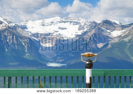 Lake Louise In Banff National Park And The Canadian Rockies