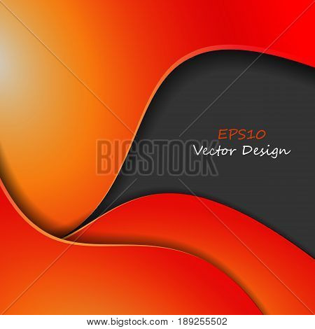 Colorful vector wavy background. Bright abstract illustration. Elements for your design. Eps10