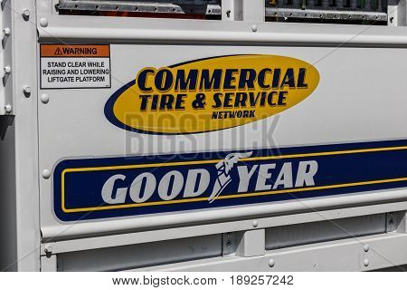 Indianapolis - Circa June 2017: Goodyear Commercial Tire and Service Vehicle. Goodyear provides tires and services for Big Rig Semi Tractor Trailer Trucks I